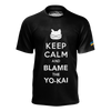 ABDALLAHSMASH026: KEEP CALM BLACK T-SHIRT