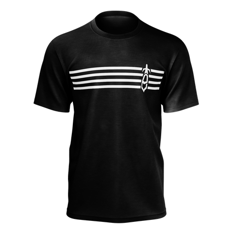 ECLIHPSE: STRIPES LOGO T-SHIRT