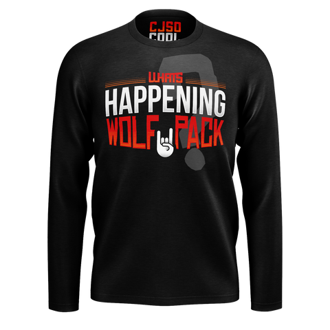 CJ SO COOL:  WOLFPACK BLACK LONG SLEEVE T-SHIRT