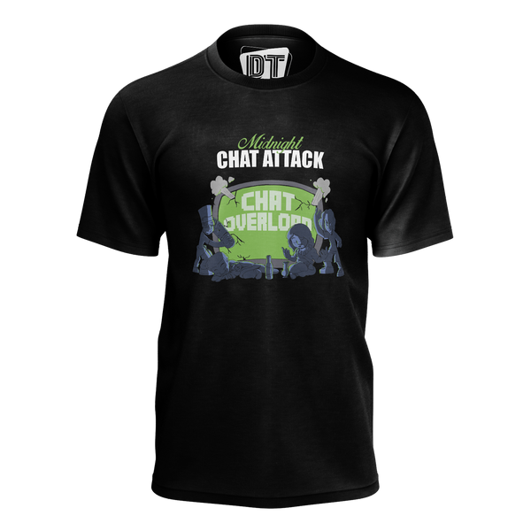 DOUBLE TOASTED: MIDNIGHT CHAT ATTACK BLACK T-SHIRT