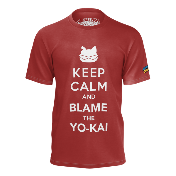 ABDALLAHSMASH026: KEEP CALM RED T-SHIRT