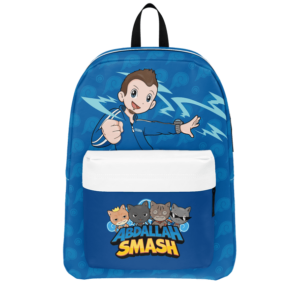 ABDALLAHSMASH026: SMASH BLUE BACKPACK