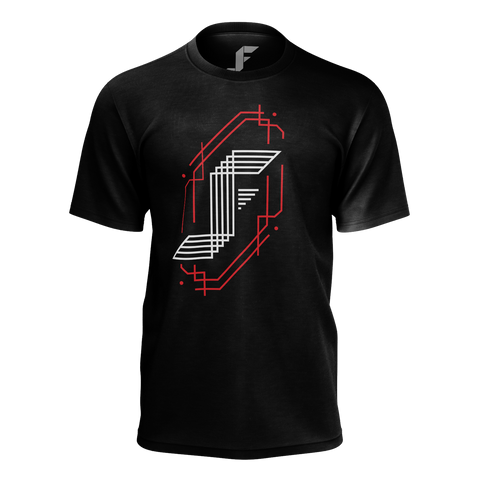JACKFRAGS: RED LINES LOGO T-SHIRT