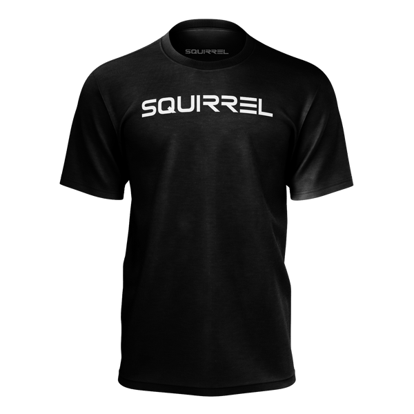 SQUIRREL: BLACK LOGO T-SHIRT