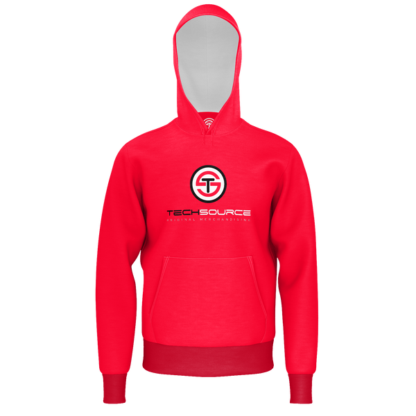 TECHSOURCE: RED LOGO HOODIE