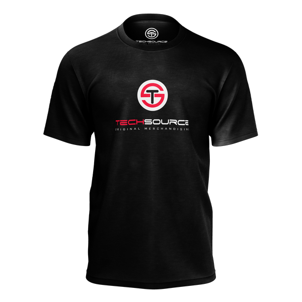 TECHSOURCE: LOGO BLACK T-SHIRT
