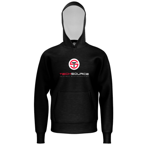 TECHSOURCE: LOGO BLACK HOODIE