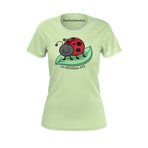 ITSPLAYTIME612: LIGHT GREEN T-SHIRT - WOMEN
