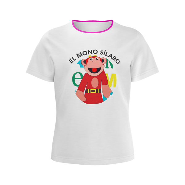 LUNACRECIENTE: PURPLE MONO T-SHIRT - KIDS