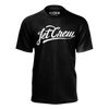 JETCREW: WHITE LOGO BLACK T-SHIRT