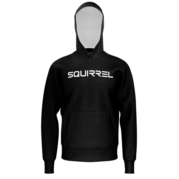 SQUIRREL: BLACK LOGO HODDIE