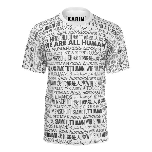 KARIM JOVIAN: WE ARE ALL HUMANS T-SHIRT - WHITE