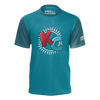 KIBITZ AND THE CAPTAIN: BLUE LOGO T-SHIRT