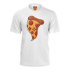 LES PIZZA GUYS: PIZZA SLICE WHITE T-SHIRT