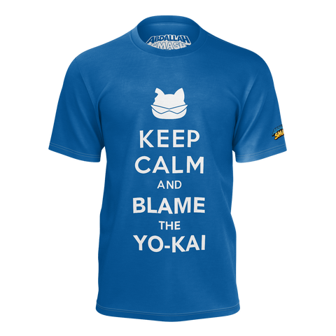 ABDALLAHSMASH026: KEEP CALM BLUE T-SHIRT