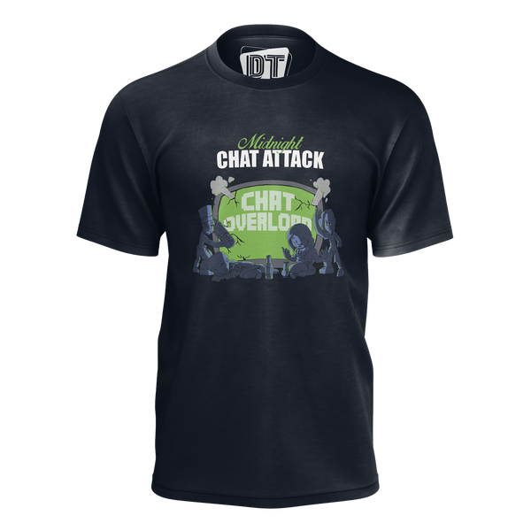 DOUBLE TOASTED: MIDNIGHT CHAT ATTACK NAVY BLUE T-SHIRT