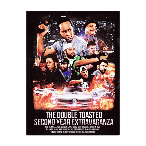 DOUBLE TOASTED: EXTRAVAGANZA POSTER