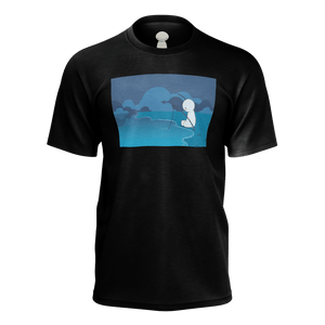 Fishing Black T-Shirt