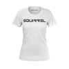 SQUIRREL: WHITE LOGO T-SHIRT - WOMEN