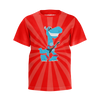 HOWDYTOONS: T­REX GUITAR RED T-SHIRT - KIDS