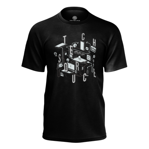 TECHSOURCE: DEVICES BLACK T-SHIRT