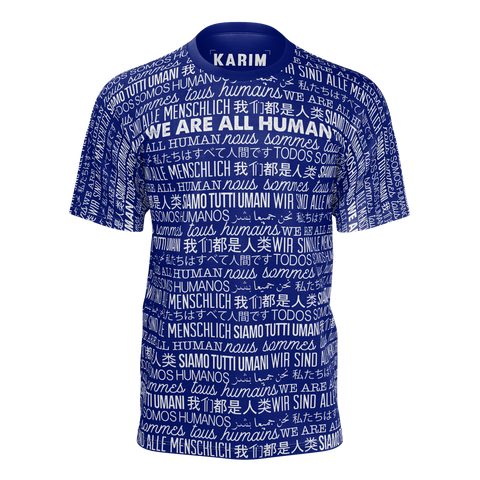 KARIM JOVIAN: WE ALL ARE HUMANS T-SHIRT - NAYBLUE