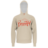 JOSH TRYHANE: BEAUTIFUL BEIGE/RED HOODIE