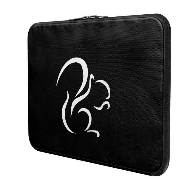 SQUIRREL: BLACK LAPTOP CASE