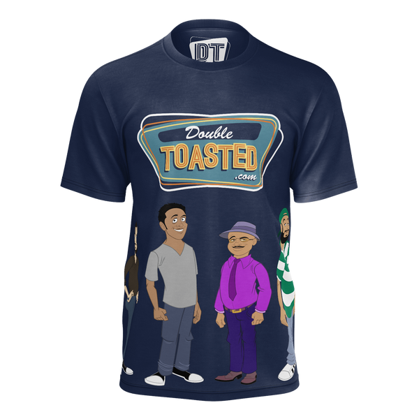 DOUBLE TOASTED: CAST NAVY BLUE T-SHIRT