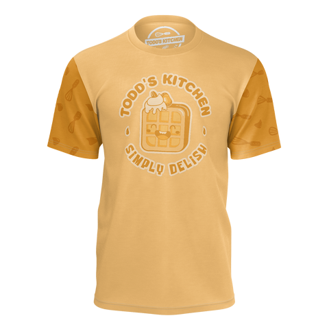 TODD'S KITCHEN: ORANGE WAFFLE T-SHIRT