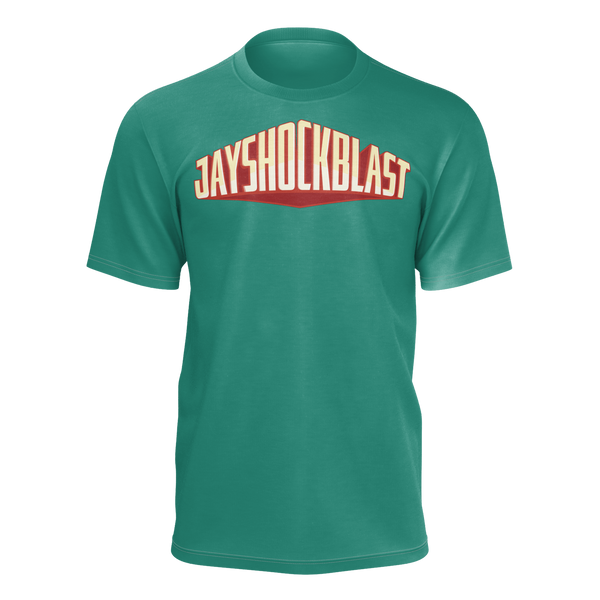JAYSHOCKBLAST: GREEN FULL LOGO T-SHIRT