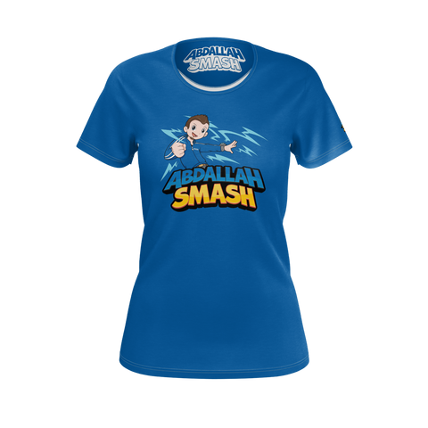 ABDALLAHSMASH026: BLUE T-SHIRT - WOMEN