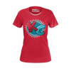 KIBITZ AND THE CAPTAIN: RED LOGO T-SHIRT - WOMEN'S