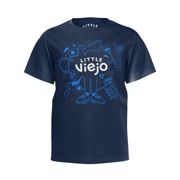 Little Viejo: Logo Blue Tee - Boys