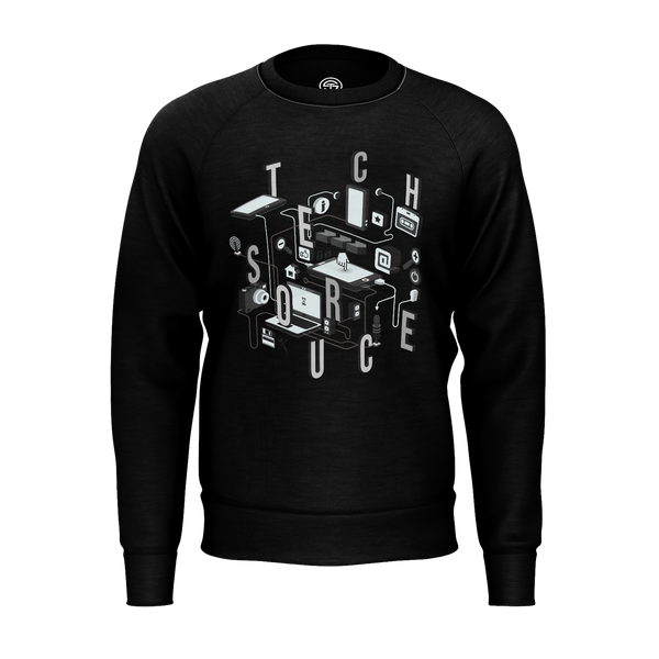 TECHSOURCE: BLACK NETWORK SWEATER