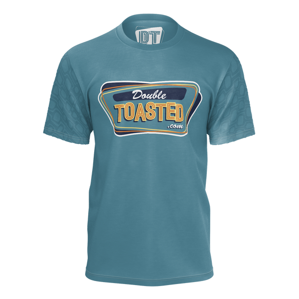 DOUBLE TOASTED: TEAL PATTERN T-SHIRT