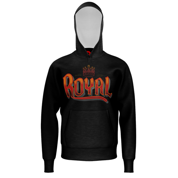 PARTIALLY ROYAL: TYPE AND CREST HOODIE