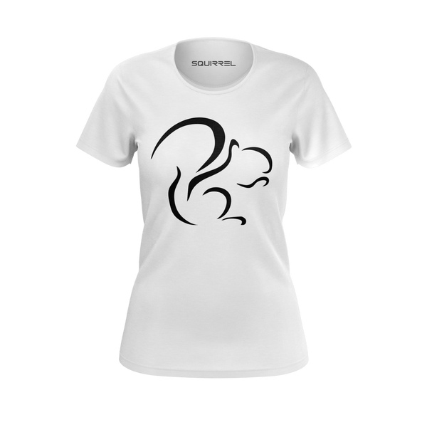 SQUIRREL: WHITE T-SHIRT - WOMEN