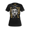 CJ SO COOL: FACE BLACK T-SHIRT - WOMEN