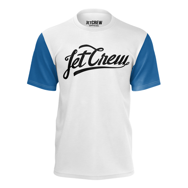 JETCREW:  BLACK LOGO BLUE SLEEVES T-SHIRT