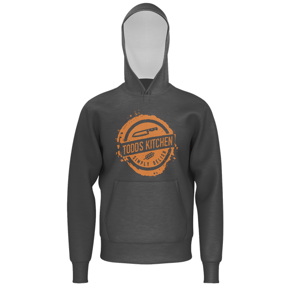 TODD'S KITCHEN: GRAY ORANGE HOODIE