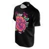 CHRIS OFLYNG: ROSE BLACK T-SHIRT