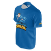 ABDALLAHSMASH026: SMASH  BLUE T-SHIRT