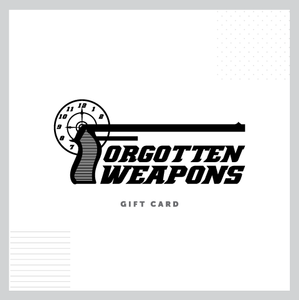 Forgotten Weapons Gift Cards
