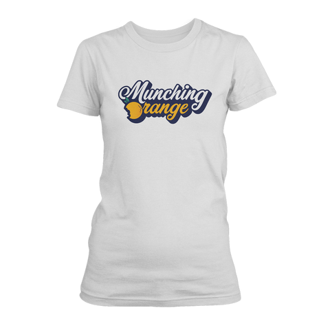 MUNCHING ORANGE: LOGO T-SHIRT - WOMEN