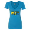 MANDJTV POKEVIDS: LOGO V-NECK T-SHIRT - WOMEN