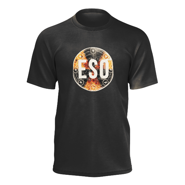 ESO: FULL COLOUR LOGO BLACK T-SHIRT - UNISEX