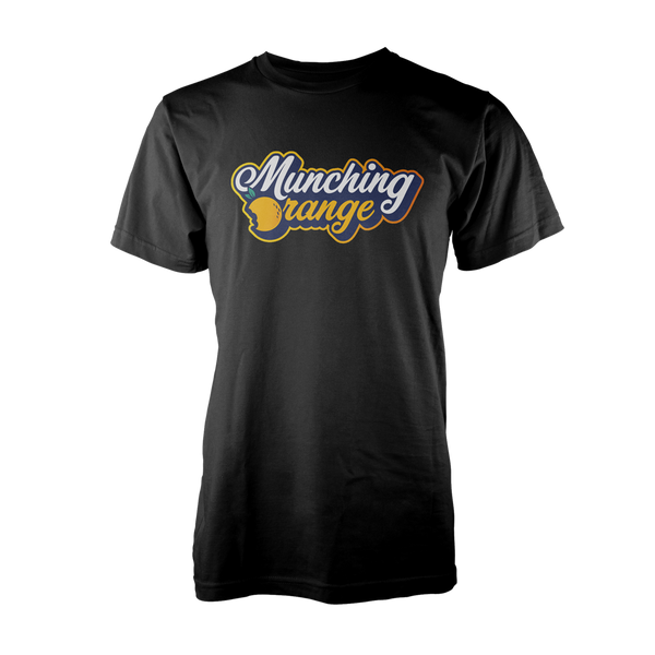 MUNCHING ORANGE: LOGO T-SHIRT - BLACK