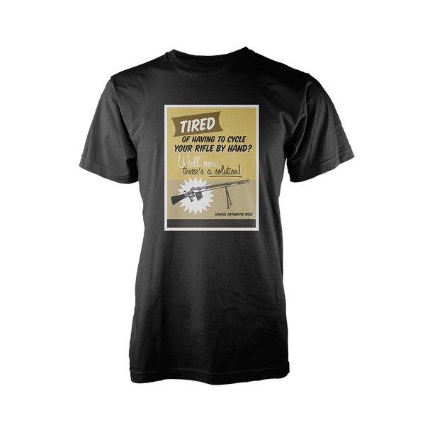 FORGOTTEN WEAPONS: HOWELL AUTOMATIC RIFLE SHIRT BLACK