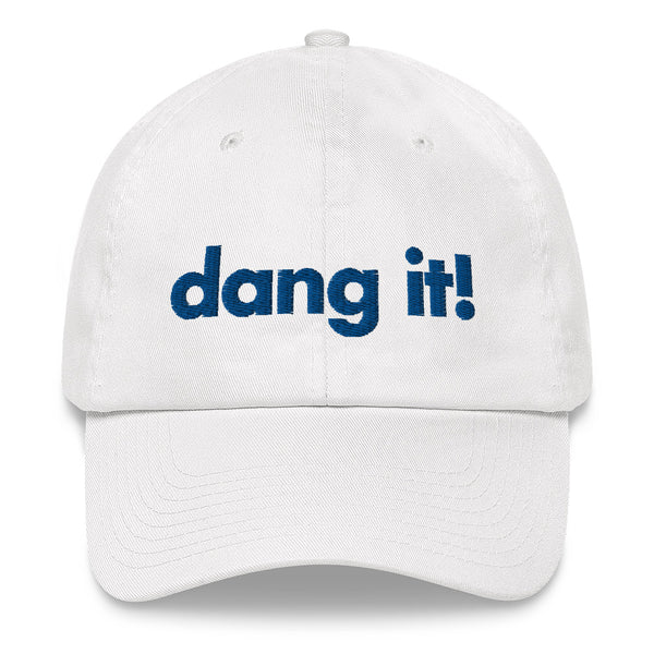 White Dang It Dad Cap